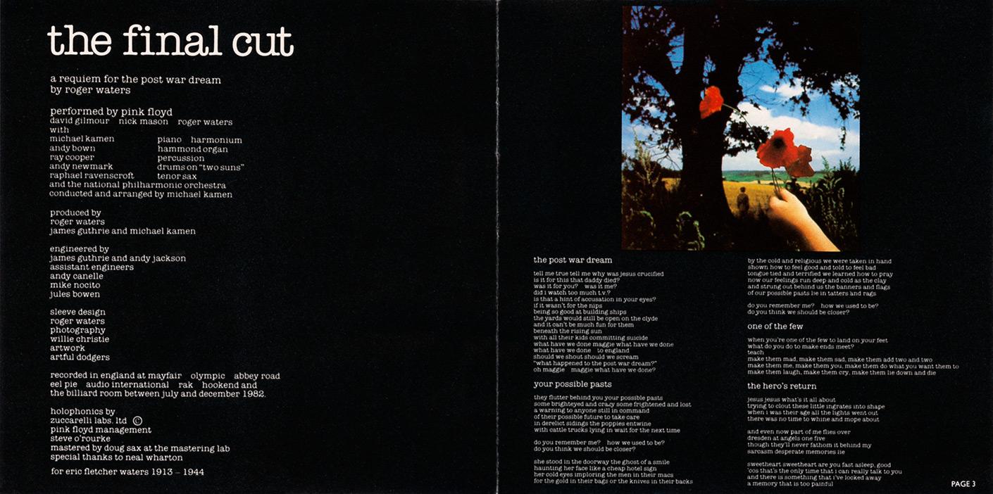 Pink floyd - the final cut скачать альбом бесплатно или