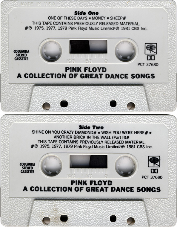 pink floyd archivesus compilation cassette tapes